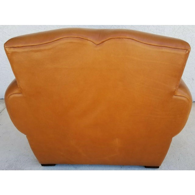 MCM Ralph Lauren Genuine Leather Club Lounge Armchair For Sale In Miami - Image 6 of 12