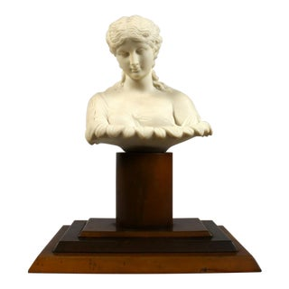 19th Century Classical Grand Tour Bust of a Young Lady For Sale