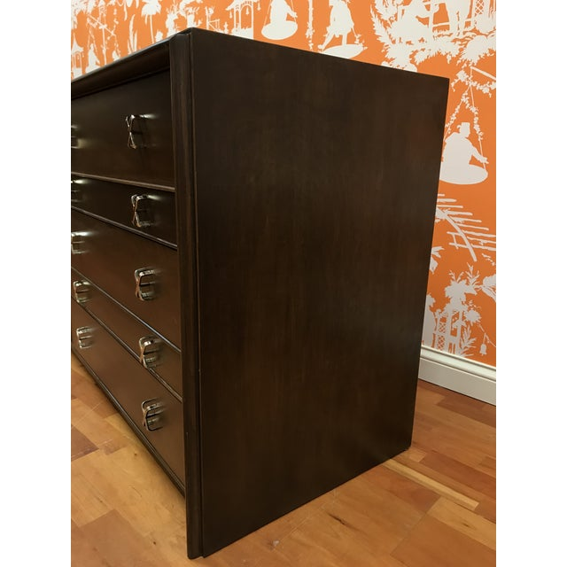 Mid-Century Modern 1950s Mid-Century Modern Paul Frankl 10-Drawer X Pull Double Chest Dresser For Sale - Image 3 of 12