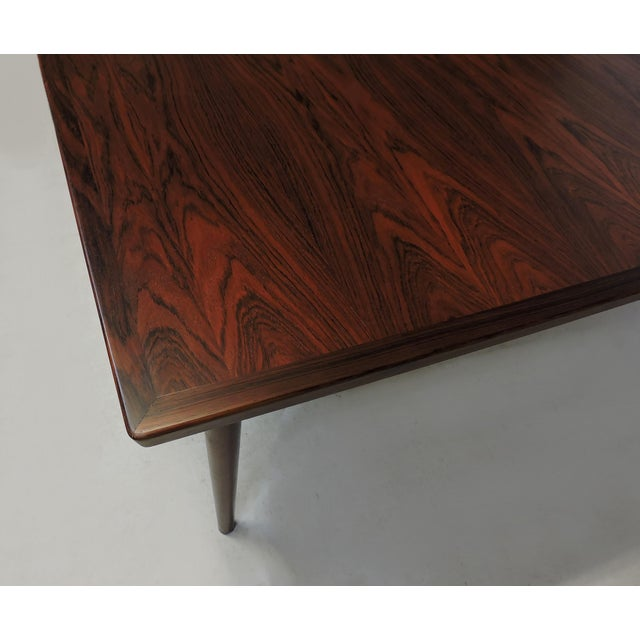 Arne Vodder Expandable Danish Modern Rosewood Dining Conference Table Model 201 For Sale - Image 9 of 13