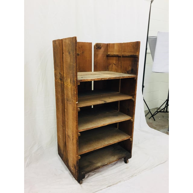 Antique Wood Factory Cart For Sale - Image 11 of 11