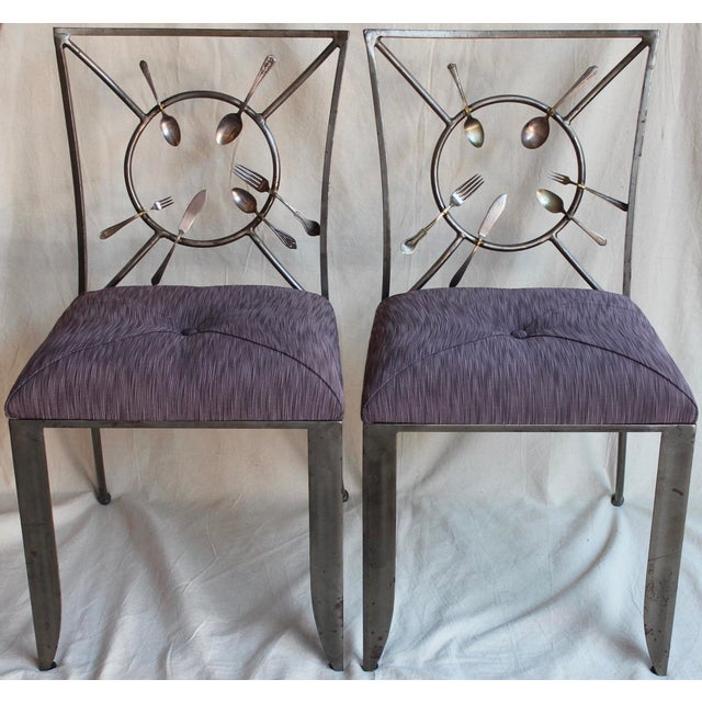 "Randall Kramer ""Silverware"" Chairs - A Pair - Image 2 of 8"