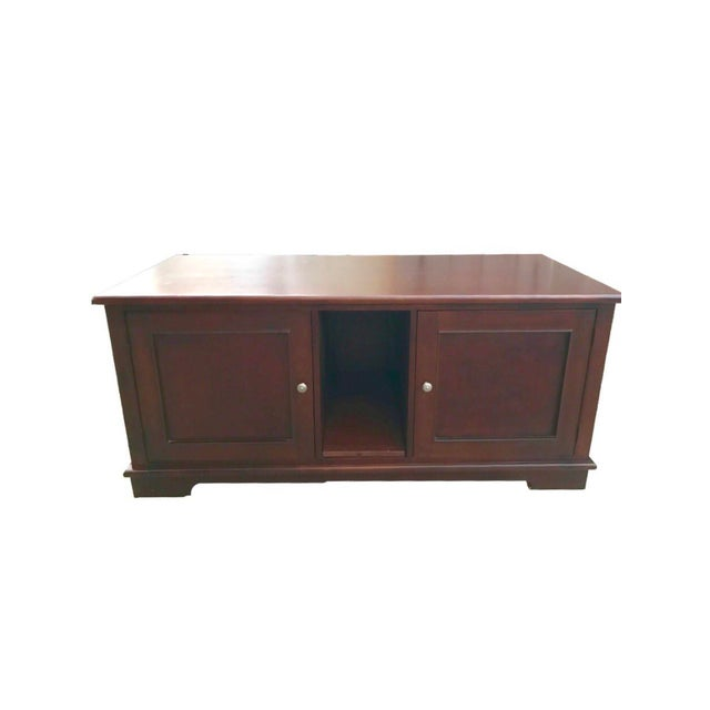 Solid Mahogany Contemporary Entertainment Console - Image 1 of 10