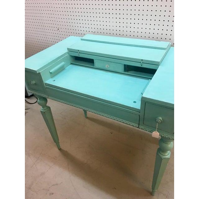 Seafoam Green Antique Desk - Image 5 of 6