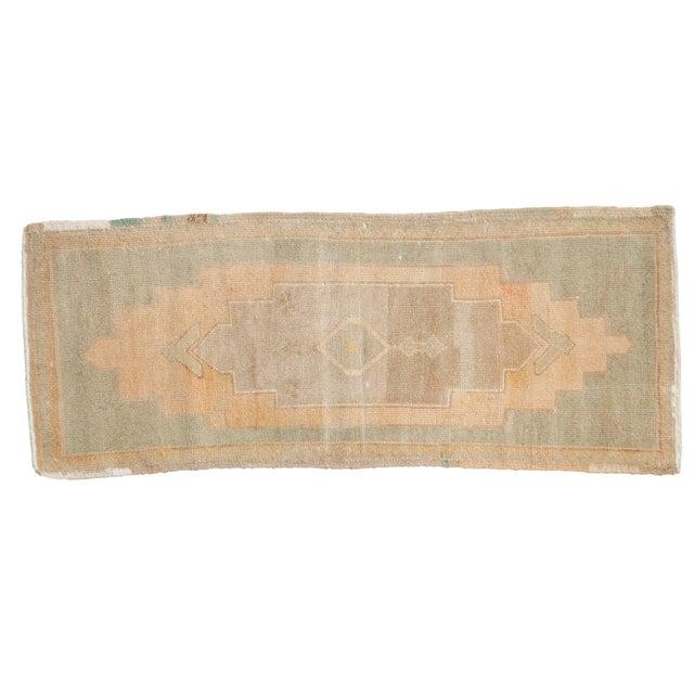 "Textile Vintage Distressed Oushak Rug Mat Runner - 1'7"" X 4' For Sale - Image 7 of 7"