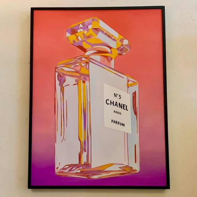 Chanel Perfume Advertisement Framed Painting For Sale In Atlanta - Image 6 of 6