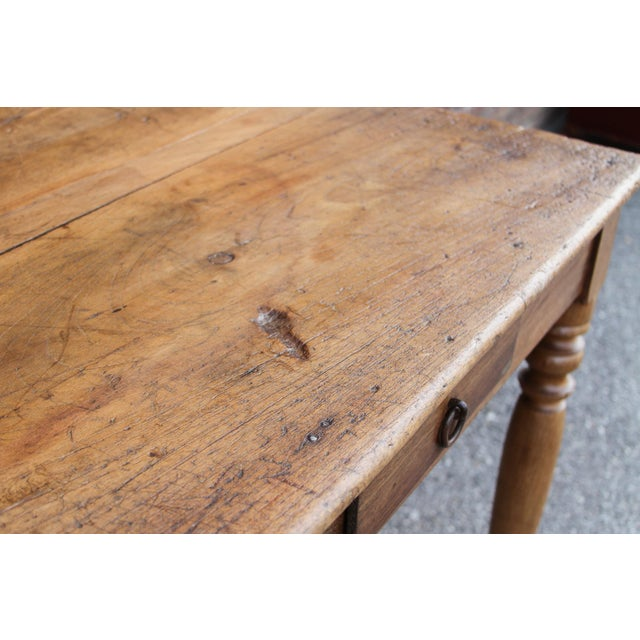 Rustic Farmhouse Kitchen Table For Sale In Los Angeles - Image 6 of 10