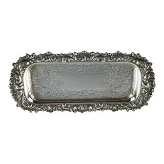 Silver Plate Repousse Butter Dish For Sale