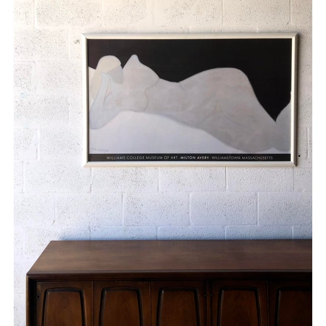 Rare Milton Avery 'Reclining Blonde' Framed Lithograph Print Exhibition Poster. For Sale - Image 10 of 12