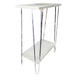 Industrial Splatter Hairpin Table Shabby Chic For Sale