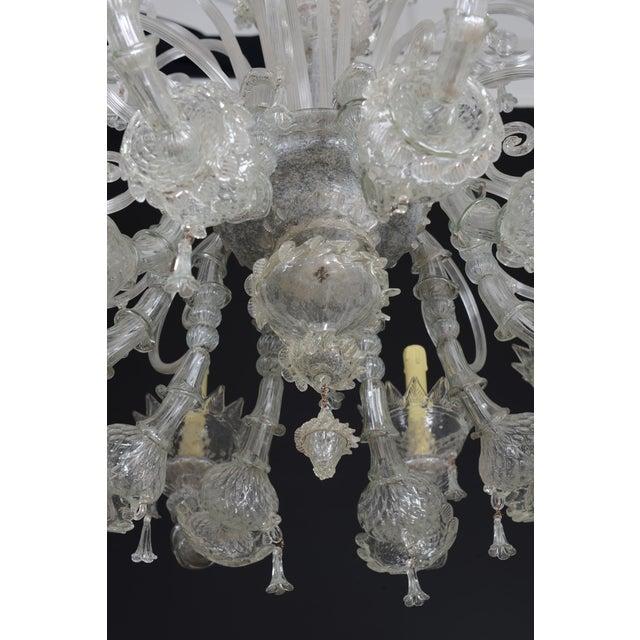 1900s Italian Murano Glass 10-Light Chandelier For Sale - Image 10 of 11