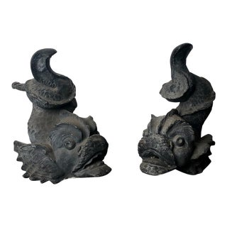 Dolphin Fountain Heads, France 18th - 19th Century For Sale