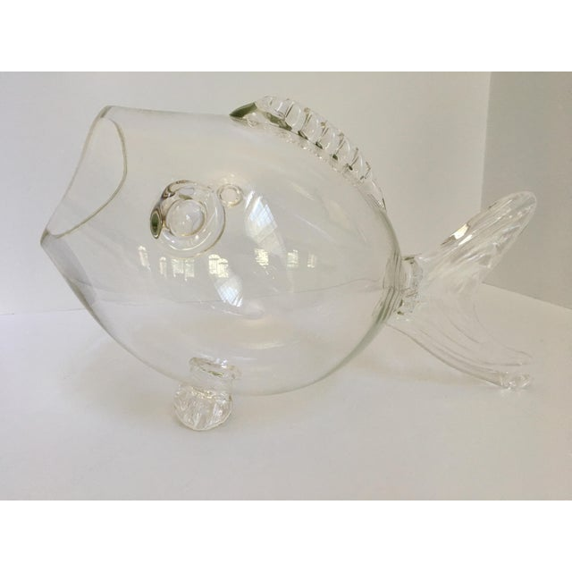 Large-Blenko Mid-Century Hand Blown Glass Fish Bowl For Sale - Image 10 of 11