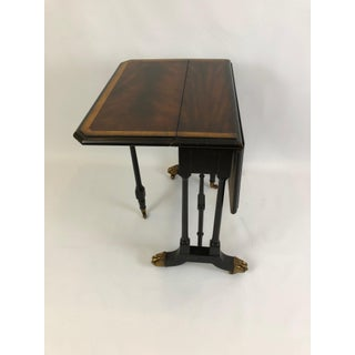 Maitland Smith Drop Leaf Flame Mahogany Side Table Preview