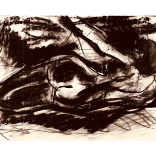 Charcoal Drawing Nude by Erik Sulander on Paper 30x22 For Sale