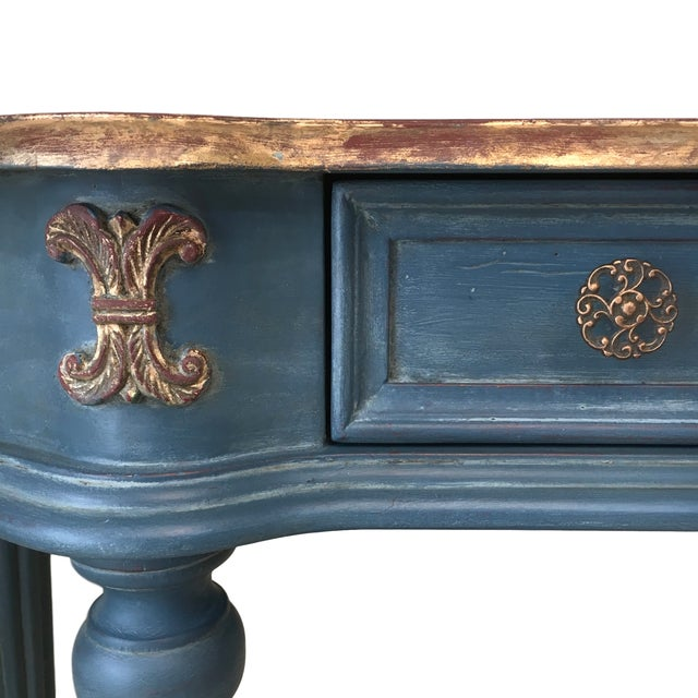 Custom Finished Demi-Lune Console Table - Image 3 of 5