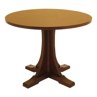 1990s Mission Stickley Round Small Dining Table For Sale
