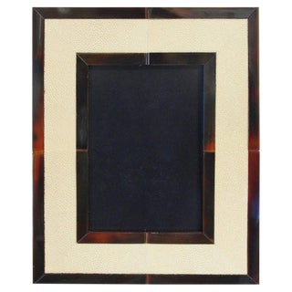 Ivory Shagreen and Brown Horn Photo Frame For Sale