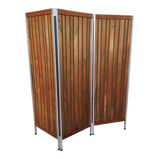 20th Century Three Panel Room Divider For Sale