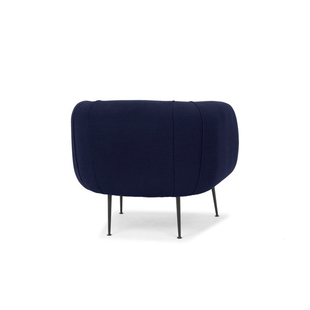 Contemporary Navy Carl Accent Chair For Sale - Image 3 of 6