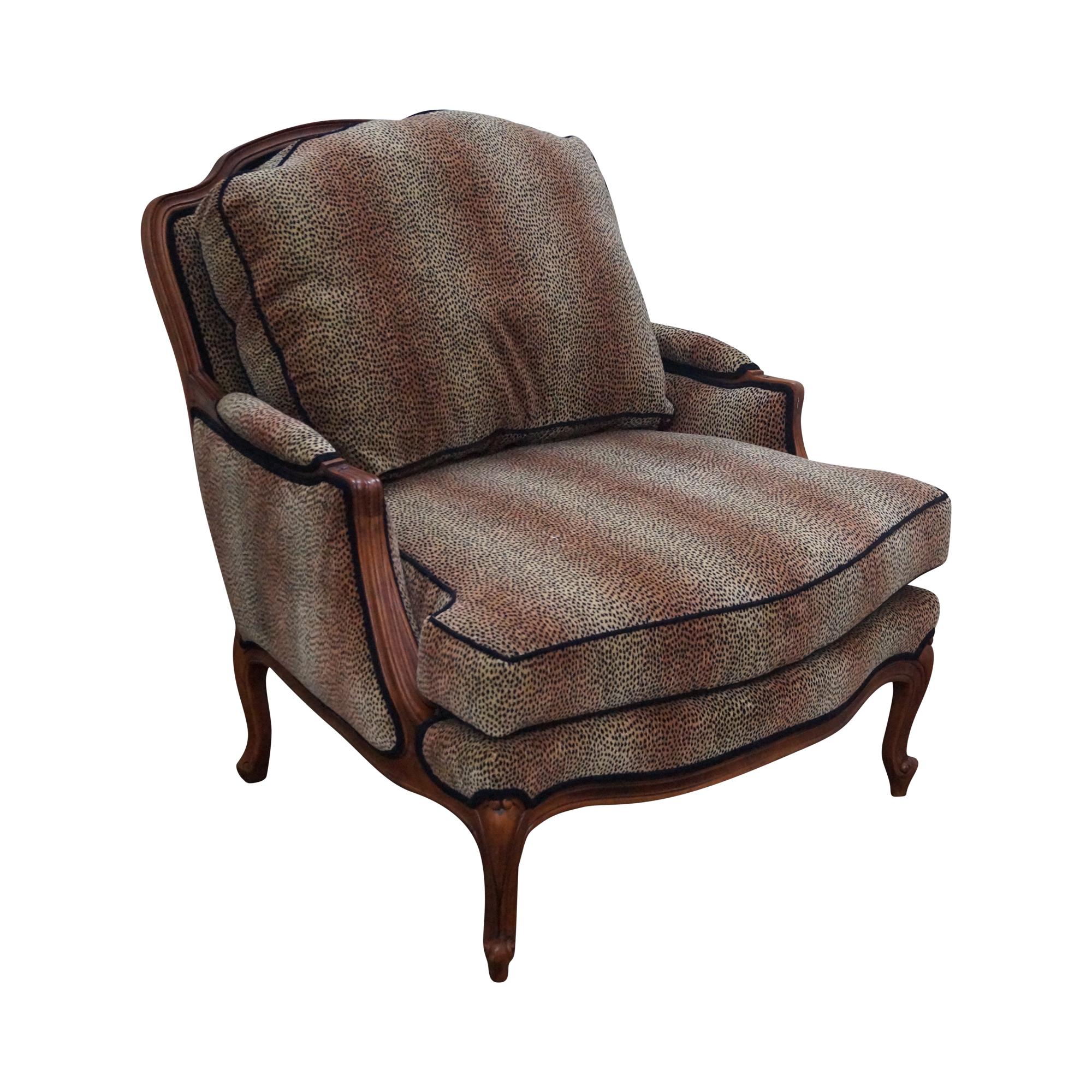 Ethan Allen French Louis XV Cheetah Print Chair