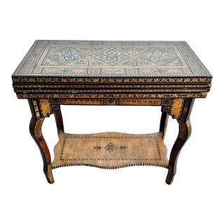 Antique Moroccan/Syrian Gaming Table For Sale
