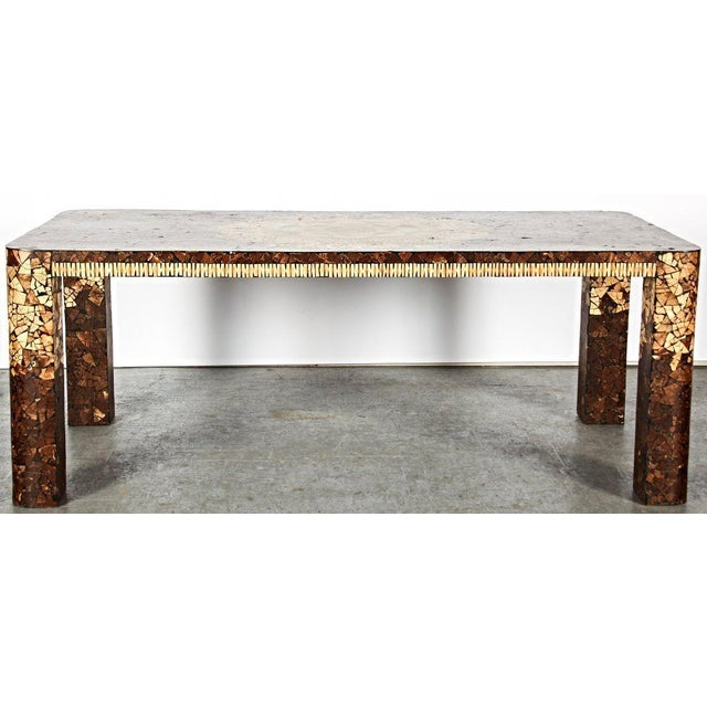 Art Deco Modern Inlaid Dining Table For Sale - Image 5 of 5