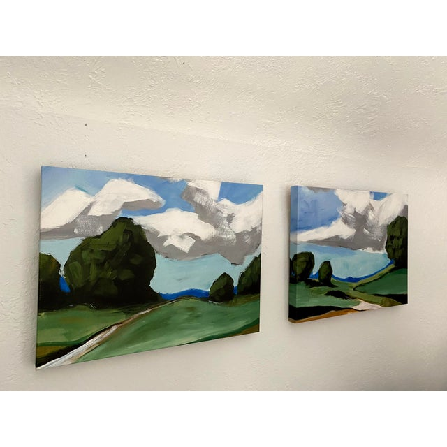 Contemporary Summer Landscape Prints on Canvas - a Pair For Sale In Denver - Image 6 of 11