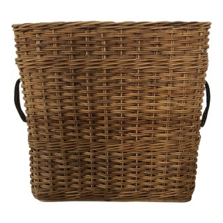 Vintage Wicker Artillery Basket
