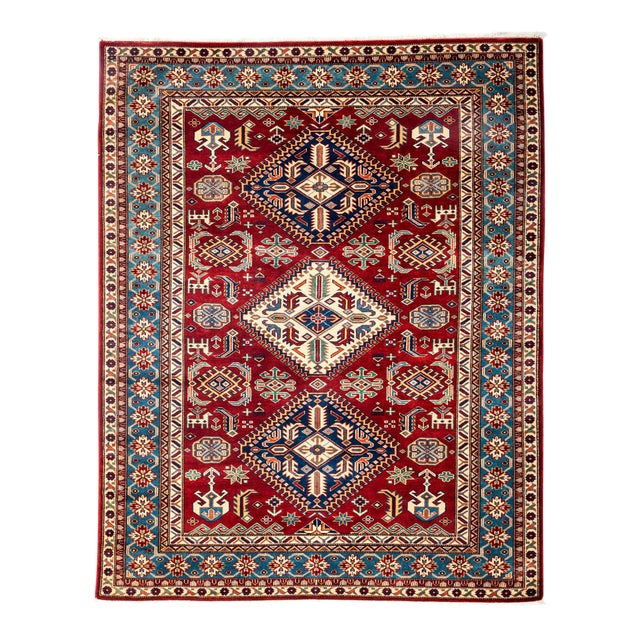 "New Traditional Hand Knotted Area Rug - 5'1"" x 6'4"" - Image 1 of 3"