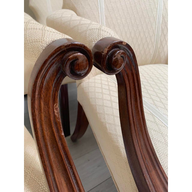 2000 - 2009 Squires Co. Custom Dining Chairs With Handles-Set of 8 For Sale - Image 5 of 10