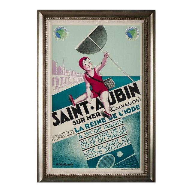 Saint Aubin Vintage Travel Poster - Image 1 of 3
