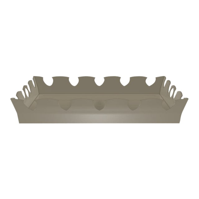 Oomph Ocean Drive Outdoor Tray, Taupe For Sale