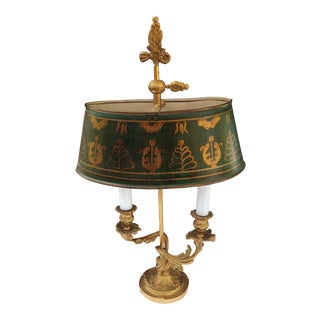 Louis XV Style Gilt Bronze Two-Lights Bouillotte Lamp For Sale