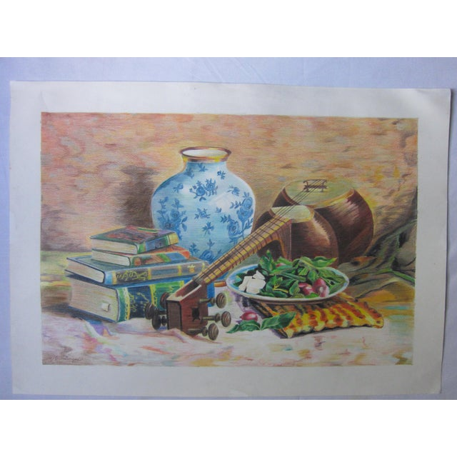 Eastern Culture Realism Colored Pencil Painting - Image 11 of 11