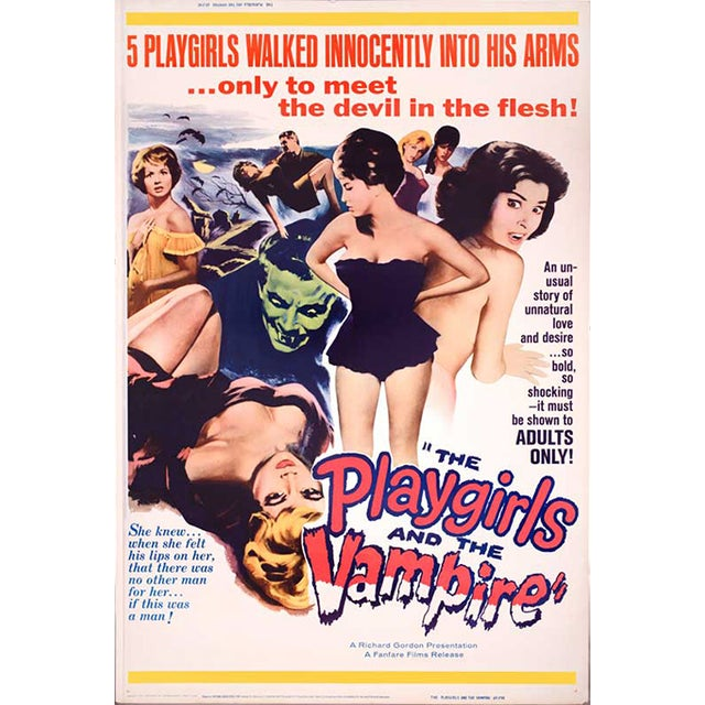 Original the Playgirls & the Vampire 1963 Drive in Movie Poster For Sale