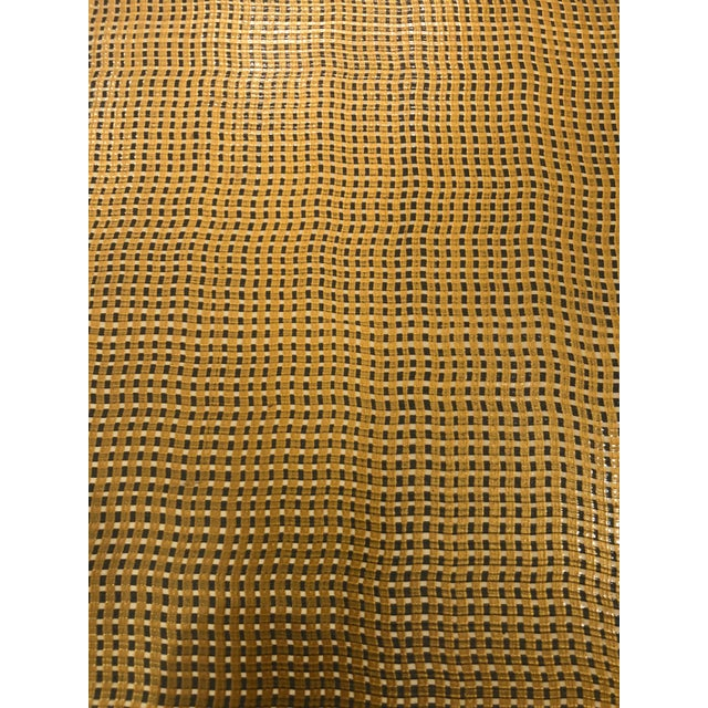 Wood Moroccan Inspired Grass Cloth Wrapped Side Table For Sale - Image 7 of 9