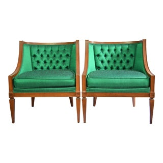Vintage Mid Century Hollywood Regency Style Chairs -A Pair For Sale