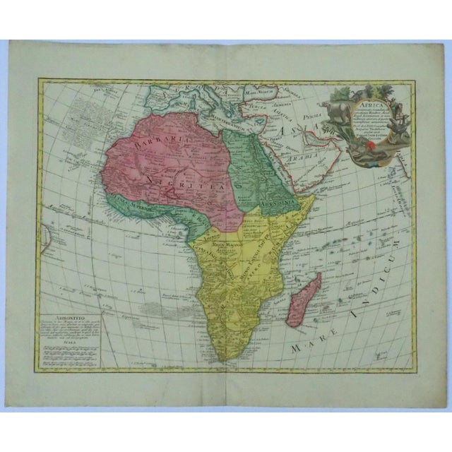 1778 Africa Map by Lotter - Image 2 of 10
