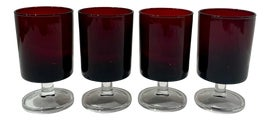 Image of Ruby Red Wine Glasses and Goblets