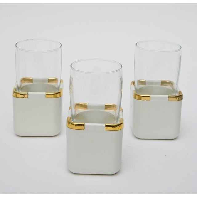 Set of 17 Resin,Glass and Gold-Plated Patio/Garden Pool Drinking Glasses For Sale - Image 10 of 11