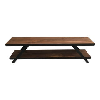 West Elm Modern Media Console For Sale