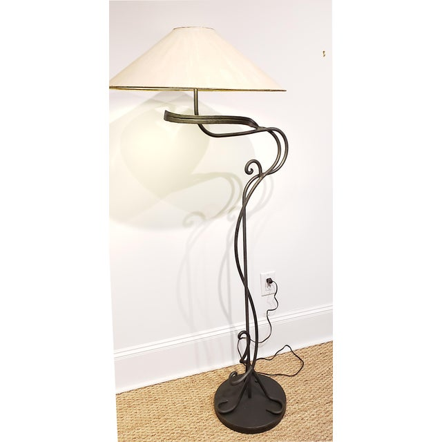Chapman Manufacturing Company 1960s Hand Wrought Iron Floor Lamp by Chapman Lighting For Sale - Image 4 of 6