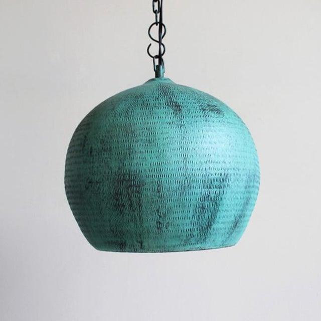 Green Copper Bola Lantern - Image 3 of 3