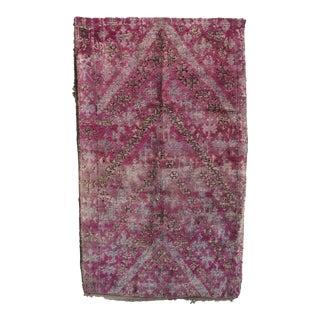 Vintage Purple Moroccan Rug For Sale