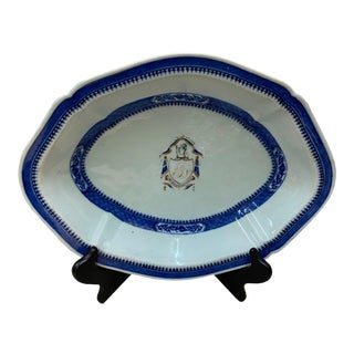 Chinese Export Armorial Platter For Sale