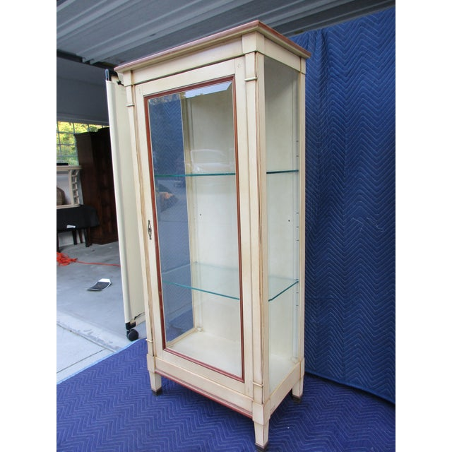 20th Century French Grange Lighted Display or Curio Cabinet For Sale - Image 6 of 13