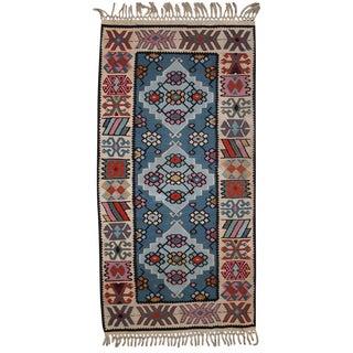 Vintage Turkish Kayseri Kilim- 2′ × 4′ For Sale