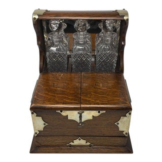 Late 1800s English Tantalus - Set of 4 For Sale