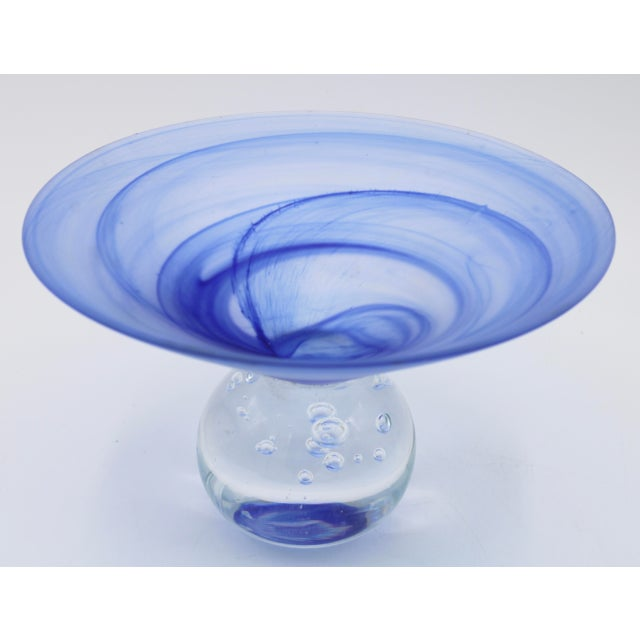 Vintage Italian Art Glass Compote / Decorative Display Centerpiece For Sale - Image 10 of 13